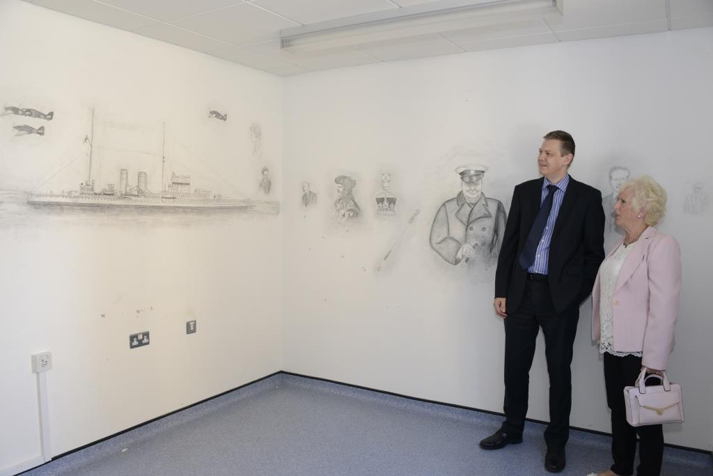 Drawings of famous characters found in Arundel Unit