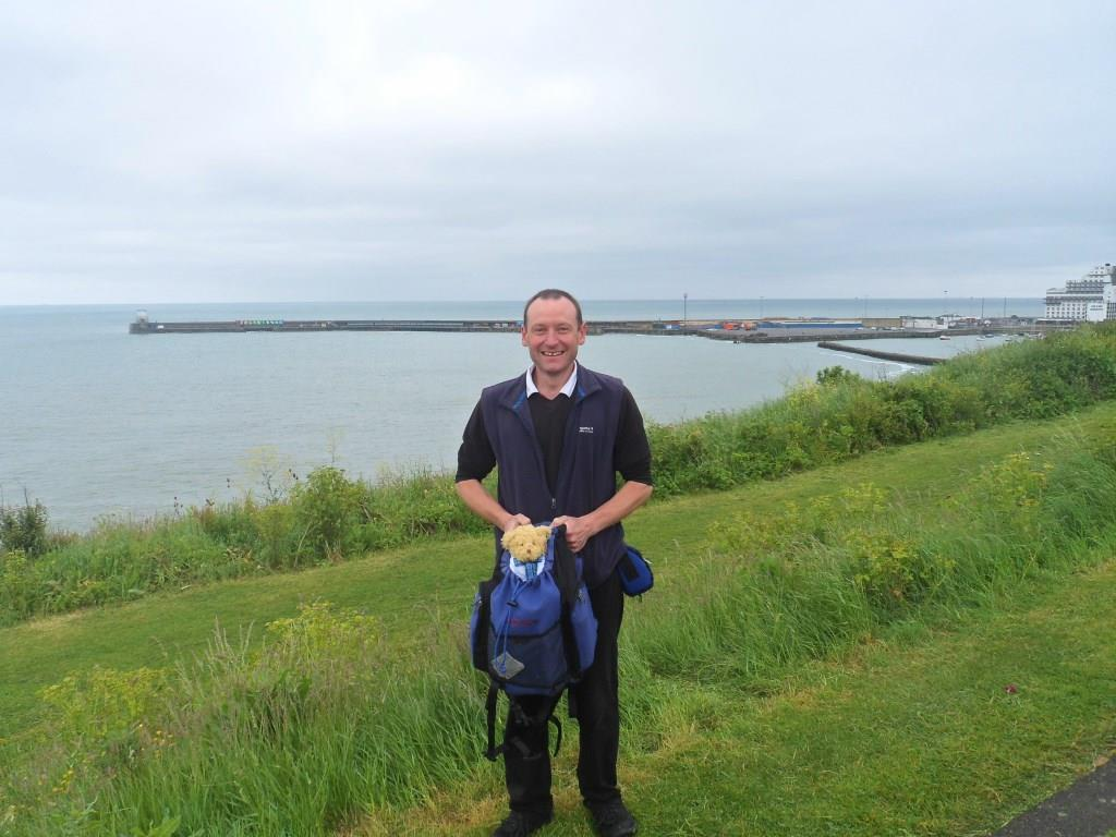 Dr Spencer joins local resident on charity walk from Dover to Dungeness